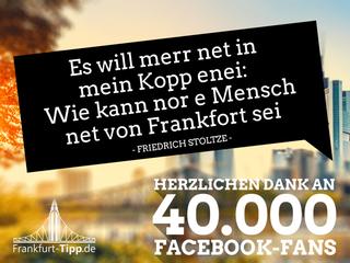 Online-Stadtführer Frankfurt-Tipp freut sich über 40.000 Facebook-Fans