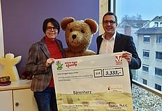 10.000 Euro für Frankfurt Kinderbüro, Stiftung Lesen und Stiftung Bärenherz